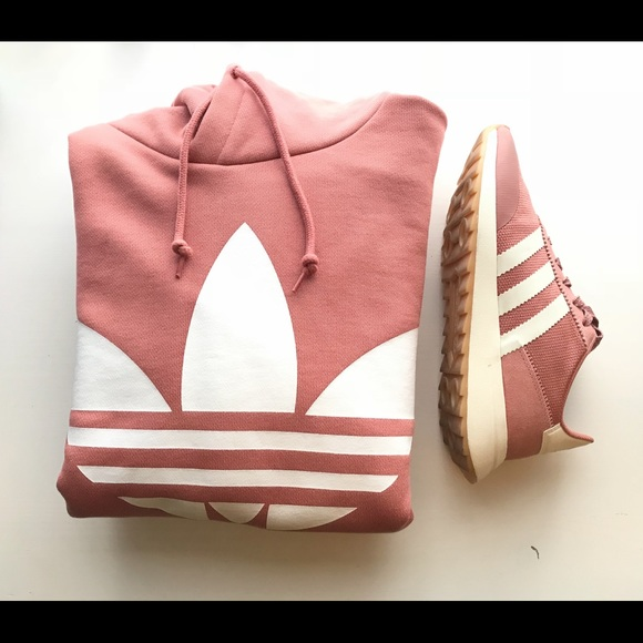 6676fc8541d3 adidas Sweaters - Nude Pink Adidas Hoodie Dress